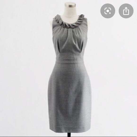 J. Crew Dresses & Skirts - J. Crew Gray Wool Leigh Sheath Career Dress